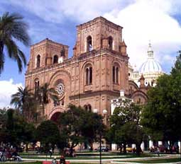 Cuenca's Catedral, one of many colonial churches in Cuenca
