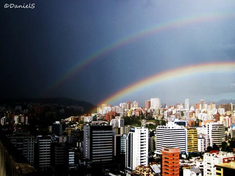 Rainbow over Quito